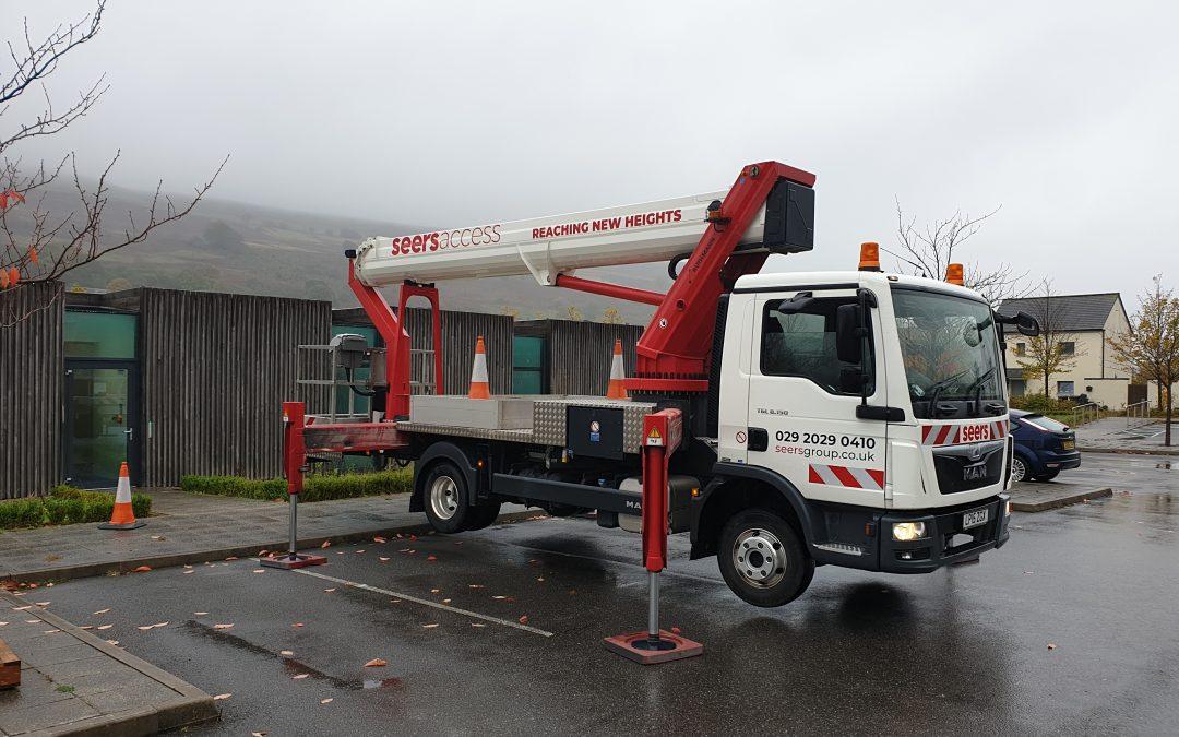 Ruthmann T330 truck mounted cherry picker